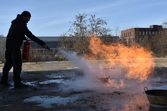 Feuerlösch-Training